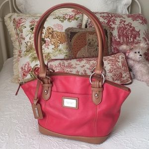 Rose Pink Leather Tignanello Bag